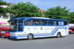 Bus No 8-003 of Thai government  Bus Company. CHIANGMAI, THAILAND - MAY 24 2014: Bus No 8-003 of Thai government  Bus Company. International bus between Stock Photos