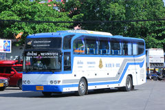 Bus No 8-003 of Thai government  Bus Company. CHIANGMAI, THAILAND - MAY 24 2014: Bus No 8-003 of Thai government  Bus Company. International bus between Royalty Free Stock Images