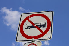Bus not allowed sign Stock Photography