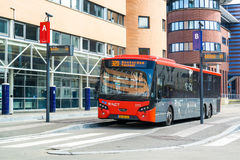 Bus op station Hilversum, Nederland Stock Afbeelding