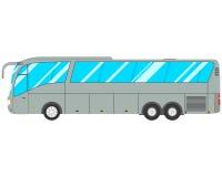 bus op witte achtergrond Stock Afbeelding