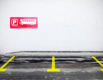 Bus parking Stock Photography