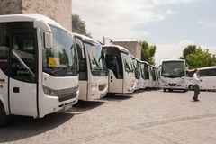 Bus parking Royalty Free Stock Photos