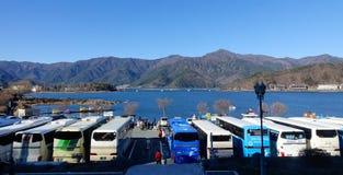 Bus at the parking lot in Kawaguchi, Japan. Bus at the parking lot in Kawaguchi, nearby Mt. Fuji, Japan stock photos