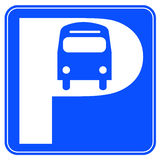 Bus parking sign Royalty Free Stock Image