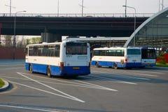 Bus parking Stock Photos