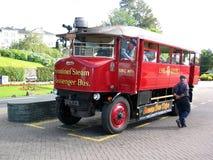 bus passagerarevaktpostånga royaltyfri foto