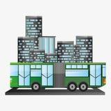 Bus passenger public transport urban background Stock Photo