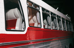 Bus with passenger seats. Stock Images