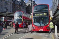 London bussar posterar Arkivfoto