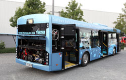 Bus powered by LNG Natural Gas Stock Image