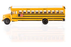 Bus: Profile View Of School Bus Royalty Free Stock Photo