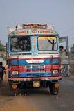 Bus public indien type et coloré Photographie stock libre de droits