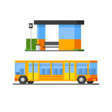 Bus And Public, Station Royalty Free Stock Photo