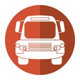 Bus public transport city front view brown circle royalty free illustration