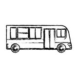 Bus public transport vehicle sketch. Illustration eps 10 Royalty Free Stock Photos