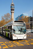 Bus of the Public transportation. System named Transantiago, Santiago de Chile, South America Royalty Free Stock Photos
