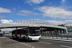 Bus at the Pulkovo airport, St. Petersburg, Russia Stock Image