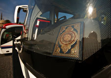 Bus with quran Royalty Free Stock Photo