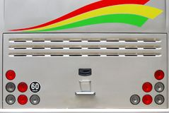 Bus-Rücklichter Stockfoto