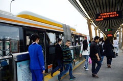 The Bus Rapid Transit of chengdu Stock Photography