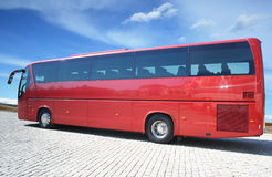 bus red Arkivbilder