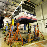 Bus Repairs Stock Image