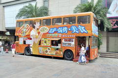 Bus restaurant Stock Images