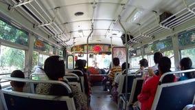 Bus ride Sri Lanka. Bus ride Colombo Sri Lanka stock video
