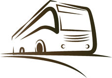 Bus on road. Has been created as vector Stock Images
