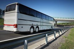Bus on the road Royalty Free Stock Photography
