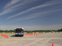 Bus Roadeo on a Beautiful May Day. 2006 bus roadeo course in Wilmington, NC Stock Photography