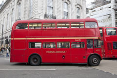 Bus rosso Fotografie Stock