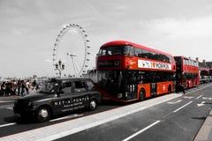 Bus rosso a Londra fotografia stock