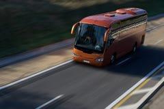 Bus rouge Photographie stock libre de droits