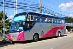 Bus route bangkok and Lampang Stock Photography