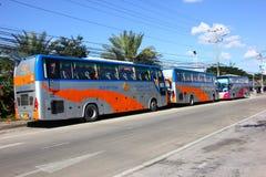 Bus route bangkok and Lampang. Power by Gas ngv or cng Royalty Free Stock Photos