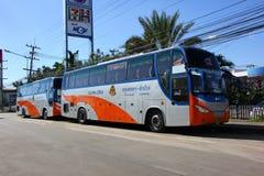 Bus route bangkok and Lampang. Power by Gas ngv or cng Stock Images