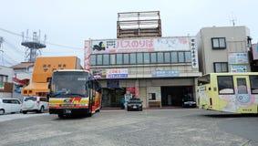 Bus routes for accessing Kumano Kodo, Kumano Hongu Taisha, Kumano Nachi Taisha. It& x27;s in front of Kii Katsuura Station royalty free stock photo