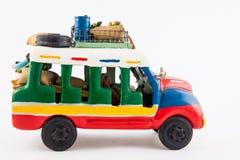 Bus rurale tradizionale variopinto dalla Colombia fotografie stock libere da diritti
