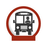 Bus school emblem icon Stock Photos