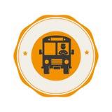 Bus school emblem icon Stock Photo
