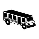 Bus school isometric icon Stock Images