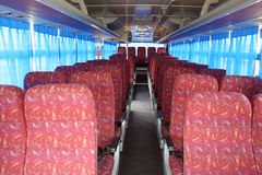 Bus seats. A new big bus seats inside Stock Photos