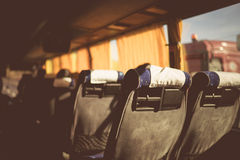 Bus seats Florence vintage Stock Photography