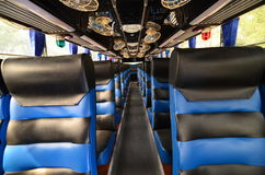 Bus seats, Interior blue Stock Images