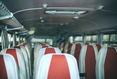 Bus with seats. Royalty Free Stock Images