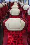 Bus seats in row Stock Photos