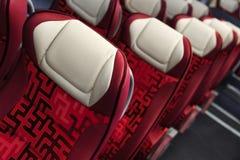 Bus seats row Stock Photos