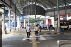 Bus section beside lrt at pasar seni Royalty Free Stock Photo